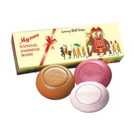 印度 Mysore邁索爾 ^~精油香氛皂 ^~ Sandal Jasmine Rose S