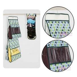 加厚簡約風車5層透明窗包包收納袋 皮包收納掛袋 可收納5個大大小小的包包^~