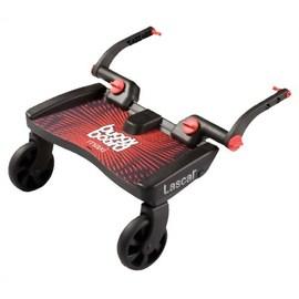 【紫貝殼】『GE05-2』瑞典 Lascal Maxi 萊斯卡嬰兒手推車 輔助踏板 (加大版型)(紅色)【承重20公斤/符合歐洲安全標準EN1888:2003】