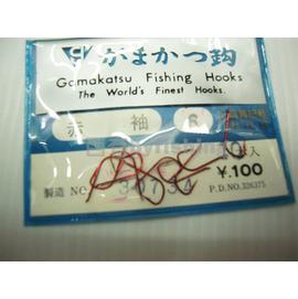 ◎百有釣具◎Gamakatsu ガホガフ赤袖 6號零碼(有倒鉤)~原價$40特價$25