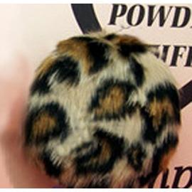 粉紅公主甜心棒棒糖 豹紋毛毛粉撲~粉撲棒裡含珠光粉!亮粉全身可使用!