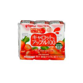 日本【Pigeon 貝親】紅蘿蔔蘋果汁125ml (3入)