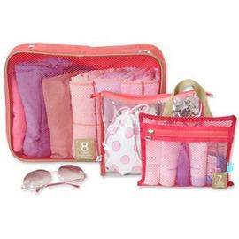 法蒂希 時尚可透視旅行分類袋 組合三件套~行李箱內的好幫手! ◇/旅行整理袋組合洗漱袋/收納袋