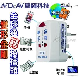 *110-250V.出國專用.手機、筆電、充電器*聖岡科技變形金剛全球通轉換插頭 UTA-31