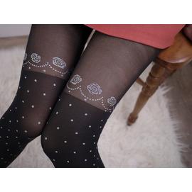 我的美麗日記^~東京戀歌小資女氣質提升及膝半透明點點 保暖彈性襪679~5