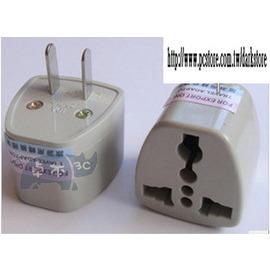 (3孔轉2孔) 旅遊轉換器 三孔/二扁插 萬用插頭 國標轉換器/美標轉換插座 *白* [MPO0001]