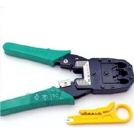 線 電話線 壓線鉗 夾線鉗4P 6P 8P ^( RJ45、RJ11^) ^~送剝線刀 ^