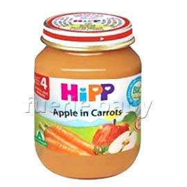 HiPP喜寶有 機蘋果胡蘿蔔泥125g