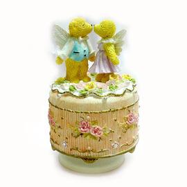 【花現幸福】☆天使雙熊波麗音樂鈴160元☆婚禮小物 結婚禮物  小熊