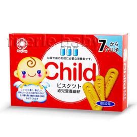 幼兒營養齒餅紅盒80g