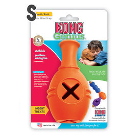 KONG Genius Leo 保齡球瓶抗憂鬱玩具GL3(S) 可連接MIKE^~狗益智玩