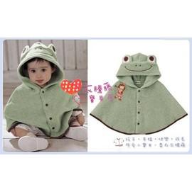 ~╮衣騰藤寶貝屋╭ ~~WS010~日單可愛小青蛙 連帽披風 外套 斗篷~彌月禮