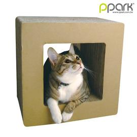 Ω米克斯Ω~PPARK寵物遊戲 組 E 小正方~ 瓦楞紙大型貓抓板~耐抓屑少店貓 !