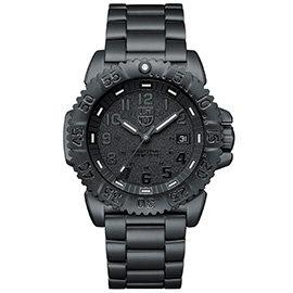 LUMINOX 雷明時 鐵漢系列鋼鍊腕錶~PVD黑x黑時標 44mm A3152.BO