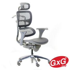 【GXGshop】多功能人體工學 高級主管辦公椅 電腦椅 商務TW系列 超透氣全網椅 TW111PRO-灰色(含運價)