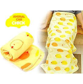 【HH婦幼館】黃色小雞居家懶人毯/嬰幼兒包被/包巾/抱毯/毛毯