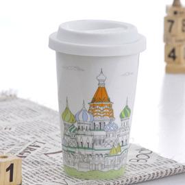 Bella House 我不是紙杯^~城市風情系列 雙層陶瓷杯_俄羅斯 克里姆林宮