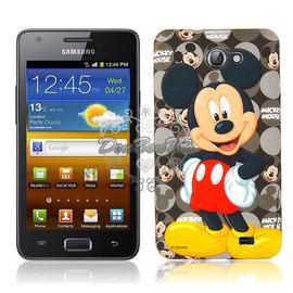 通販部-迪士尼米奇黑底Samsung Galaxy R I9103霧面軟殼保護殼保護套020703