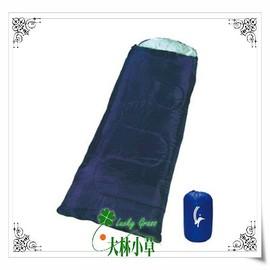 大林小草~【DJ-9008B】深藍色成人原棉睡袋-戶外露營用品-保暖舒適
