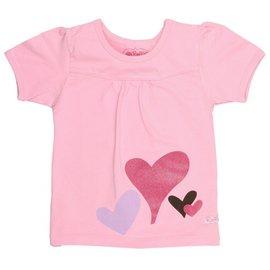 RuffleButts 小女童短袖T~shirt~~粉紅閃閃愛心
