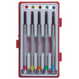 Panssda百事達~5件式彩色精密起子組^(螺絲批組^)~適行動電話及電訊.電腦設備之維