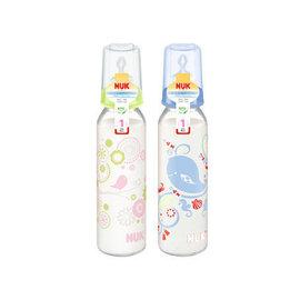 NUK 一般口徑玻璃印花奶瓶 230ml (0-6個月)