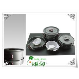 大林小草~【K-3】犀牛RHINO 三人鋁合金套鍋、K3 超輕 露營 、登山鍋具