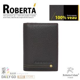 諾貝達‧卡文 Roberta Colum 真皮 名片夾-咖啡【RM-23159-2A】