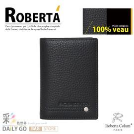 諾貝達‧卡文 Roberta Colum 真皮 名片夾-黑【RM-23159-1A】