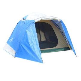 探險家露營帳篷㊣DJ871新全方位前延式加大六人帳(銀色配藍色)類似LOGOS桔楓270FR-IZ