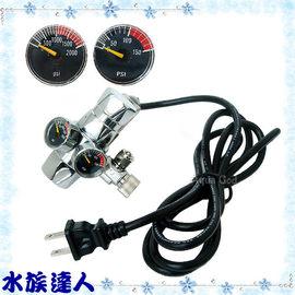 【水族達人】鐳力Leilih《V型CO2雙錶微調閥(電磁閥).M-LE-48》