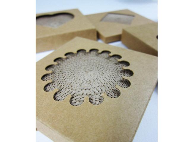 8cm 纯手工制作,瓦楞年轮杯垫,简单朴素又环保,吸水力第一等!