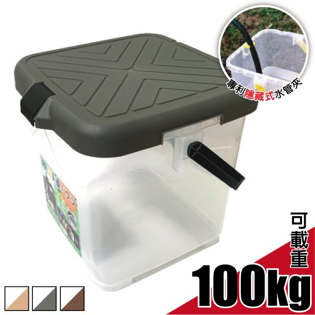 【FARBER】台灣製 月光寶盒.RV多用途可承重置物桶.可當洗車桶.收納桶.野餐椅.萬用桶.荷重水桶 承重100kg/黃 FB-015