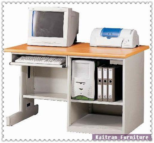 直立式木纹电脑桌】oa办公桌-钢制电脑桌