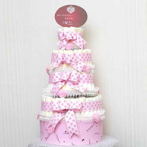 生日礼物 弥月尿布蛋糕塔