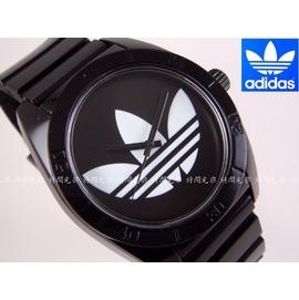 ~時間光廊~adidas 愛迪達 黑色 三葉草 女錶 男錶 中性錶 錶  貨 ADH265
