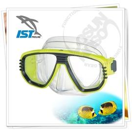 【IST】CORONA 矽膠雙面鏡(可搭配遠視及近視鏡片OL-55).浮潛,潛水.蛙鏡.泳鏡.呼吸管.水上活動用/透黃 M-55