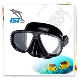 【IST】CORONA 矽膠雙面鏡(可搭配遠視及近視鏡片OL-55).浮潛,潛水.蛙鏡.泳鏡.呼吸管.水上活動用/黑 M-55