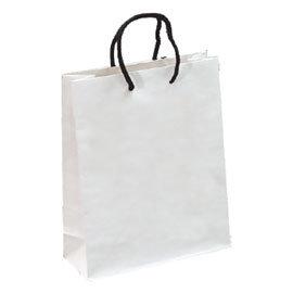 ~荷包袋~手提紙袋 大4K^(方型^) 白銅赤牛皮 25入