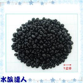 【水族達人】【底砂】《亮彩琉璃石 黑色 1kg散裝》最美麗的裝飾品!不同顏色可選擇喔!