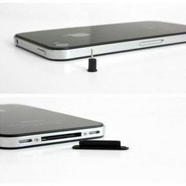 iPhone4/4S ipad 2 專用 充電口/耳機孔/防塵塞/耳機塞  耳機塞+充電孔塞 (黑/白)  [AFO-00024]