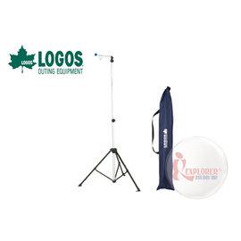 NO.71905005 日本品牌LOGOS鋁合金伸縮吊燈架(附收納袋)掛燈架/附橡膠球