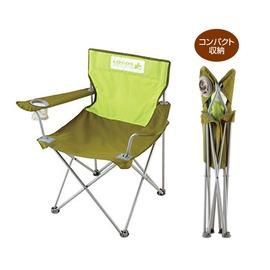 NO.73160252 日本品牌LOGOS花漾休閒椅(綠色)扶手導演椅/折合椅(附收納袋)