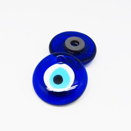~藍色土耳其~~Evil Eye土耳其避邪藍眼睛冰箱磁鐵~土耳其藍空運來台^~ 燒製
