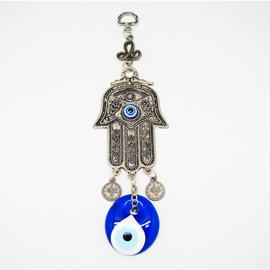 ~藍色土耳其~~Evil Eye土耳其避邪藍眼睛Hamsa hand掛飾~古老具有不可思議