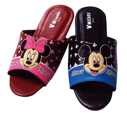 米奇米老鼠mickey mouse新娘红色皮制拖鞋儿童止滑
