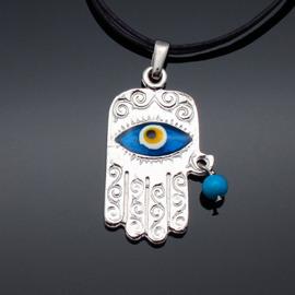 ~藍色土耳其~~Evil Eye土耳其避邪藍眼睛項鍊~Hamsa Hand 古老具有不可思
