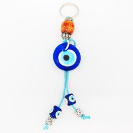 ~藍色土耳其~~Evil Eye土耳其避邪藍眼睛~不可思異古老力量平安吊飾 包包掛飾^~