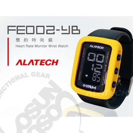 【ALATECH】多功能健身腕錶.車錶.手錶.運動錶.跑步路跑.三鐵健身.自行車/黃黑 FE002-YB