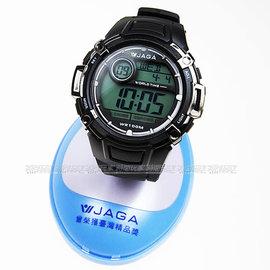 M862~A 黑  捷卡 JAGA 電子錶 黑色橡膠 47mm 男錶